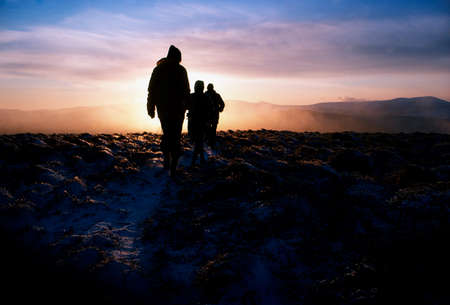co  meath: Hikers in the Wicklow Mountains, Co Wicklow, Ireland