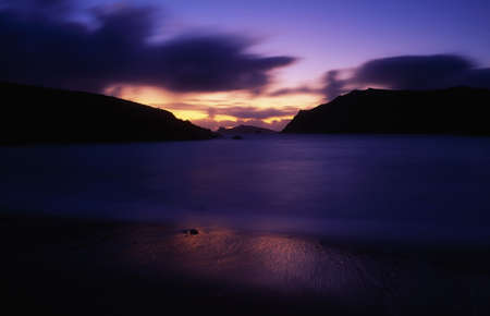co  kerry: Clogher Beach at sunset, Dingle Peninsula, Co Kerry, Ireland