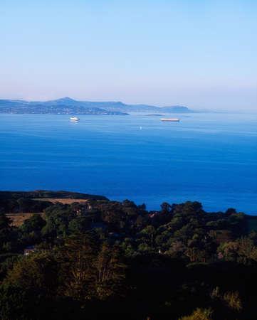 co  meath: View across Dublin Bay to Bray Head from Howth, County Dublin, Ireland