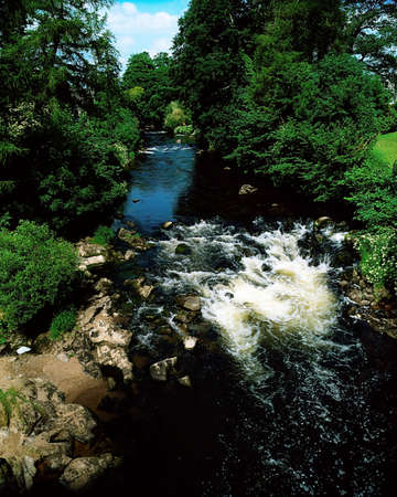 county meath: Co Carlow, River Slaney at Tullow, Ireland