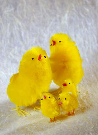 verticals: Easter chicks; Toy chicks