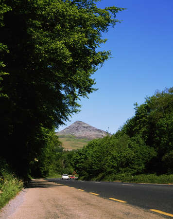 co  meath: Rural road, Glen O The Downs, Sugarloaf Hill, Co Wicklow, Ireland