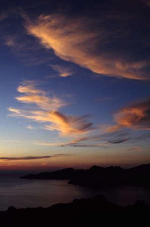 Corsica, France; View across a bay photo