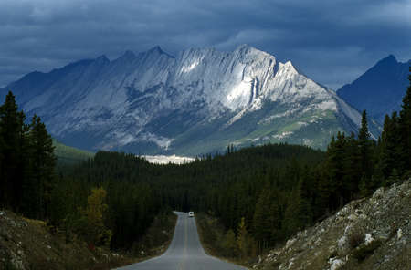 rockies: Canada; The Canadian Rockies and forest Stock Photo