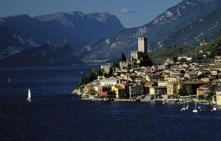 Lake Garda, Italy; Beautiful town beneath the alps Stock Photo - 7328852