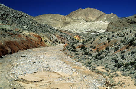river bed: Death Valley, California, USA; Dry river bed in the desert