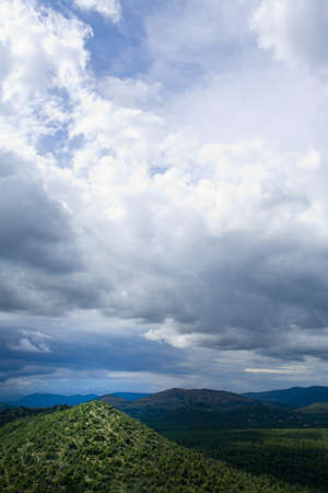 raniszewski: New Mexico, USA; Gila Mountains and cloudscape Stock Photo