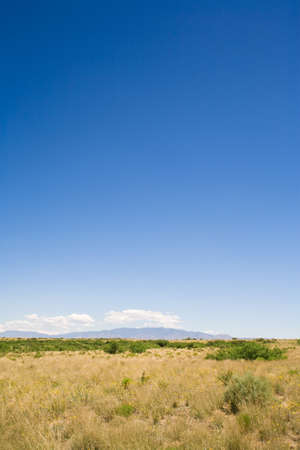 raniszewski: New Mexico, USA; Desert landscape with the Manzano Mountains in the background