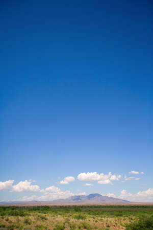 raniszewski: New Mexico, USA; Desert landscape with the Manzano Mountains in the distance