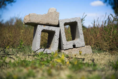 raniszewski: Cinder blocks in a pile