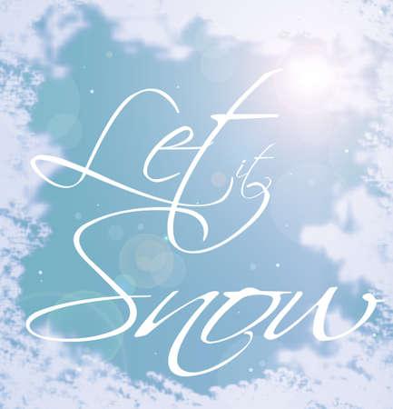 let: Decorative writing (Let It Snow)