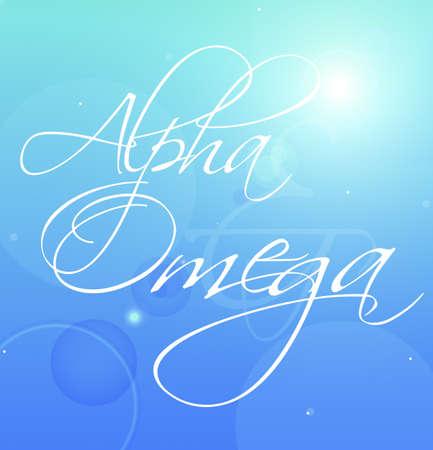 Decorative writing (Alpha Omega) photo