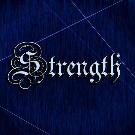 writing western: Decorative writing (Strength)