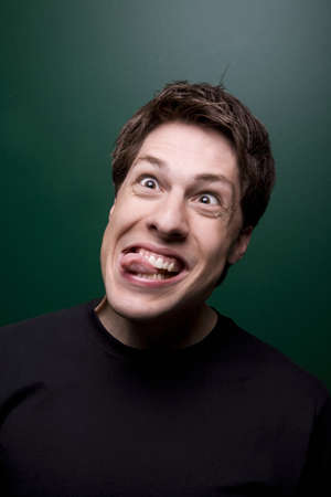 thirtysomething: Man making a silly face Stock Photo