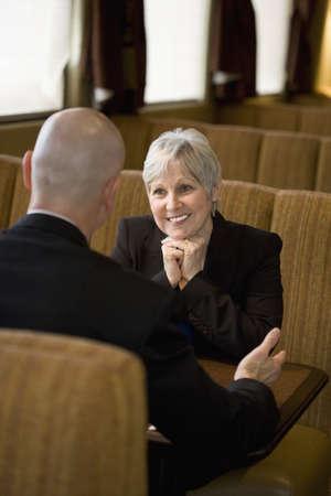 60 something: Couple talking