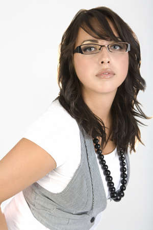 twentysomething: Woman wearing glasses and a vest