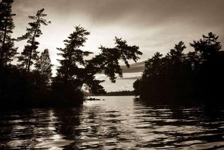 sepias: Lake of the Woods, Ontario, Canada   Stock Photo