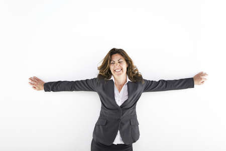 Woman with her arms raised Stock Photo - 7189908