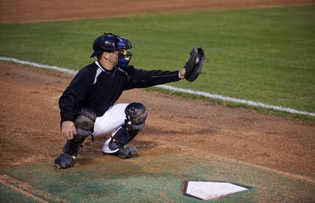Catcher, juego de b�isbol  Foto de archivo - 7197926