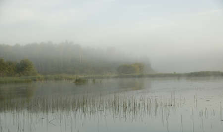 Lake of the Woods, Onta, Canada; View across lake at sunrise Stock Photo - 7192280