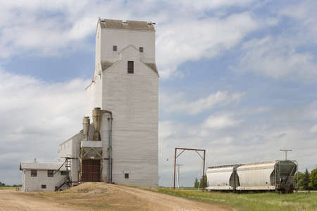 storage bin: Englefeld, Saskatchewan; grain elevator Stock Photo