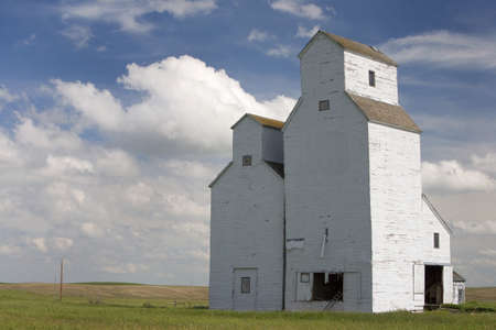 Grain elevator, Saskatchewan, Canada photo