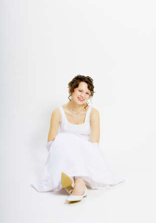 Smiling bride, sitting Stock Photo - 7189649