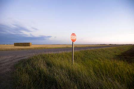 levit: Stop sign, rural road