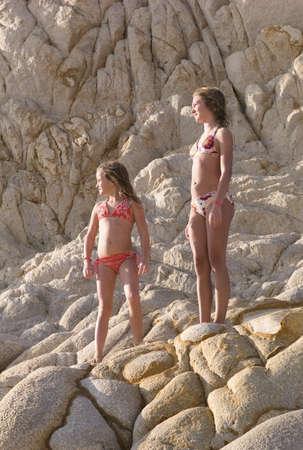 Children in bathing suits Banco de Imagens