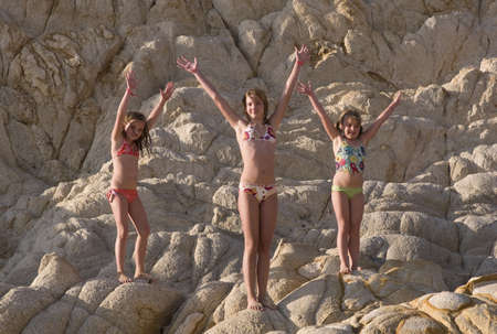 Children in bathing suits, Los Cabos, Mexico   Standard-Bild