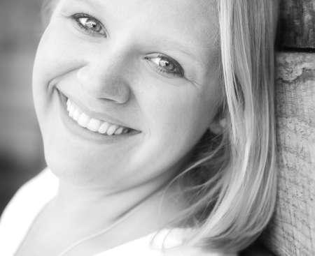 eyecontact: Portrait of woman Stock Photo