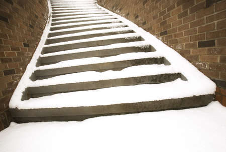 Snowy steps Stock Photo - 7192890