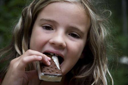 ぐちゅぐちゅアイス クリーム バー、森の湖、オンタリオ州、カナダ 写真素材 - 7192081