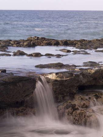 oceanfront: Spouting Horn blowhole, Poipu, Kauai, Hawaii, USA