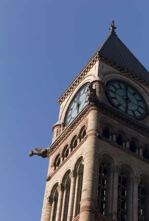 Clock tower of Old City Hall, Toronto, Onta, Canada Stock Photo - 7191016