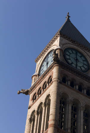 Clock tower of Old City Hall, Toronto, Ontario, Canada
