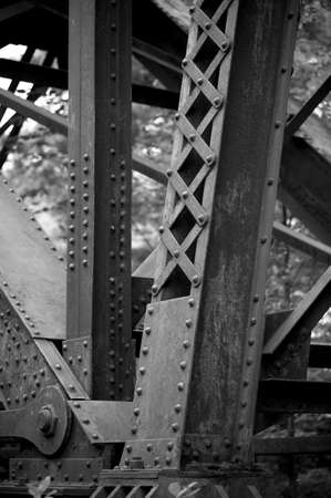 Detail of bridge pylon, Bracebridge, Muskoka, Ontario, Canada Imagens