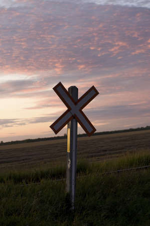 Railroad crossing sign, Manitoba, Canada Stock Photo - 7190574