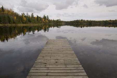 lakeshores: Dock, Lake of the Woods, Ontario, Canada
