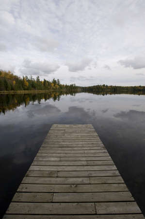 Dock, Lake of the Woods, Ontario, Canada Stock Photo - 7190218