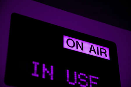 on air sign: On air sign in television studio