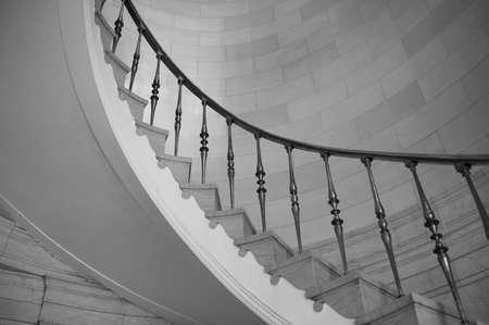 Staircase in historic building, Hamilton Building, Winnipeg, Manitoba, Canada photo