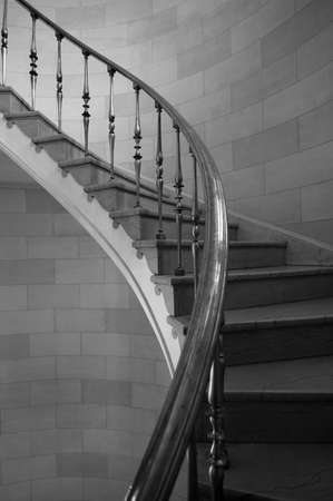 Staircase in historic building, Hamilton Building, Winnipeg, Manitoba, Canada photo