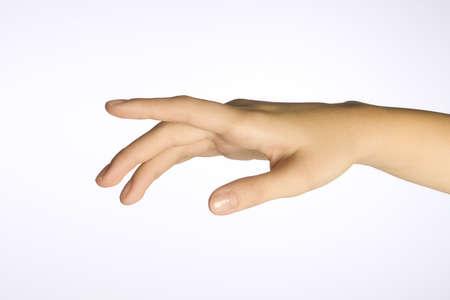reaching hands: Van een vrouw hand Stockfoto