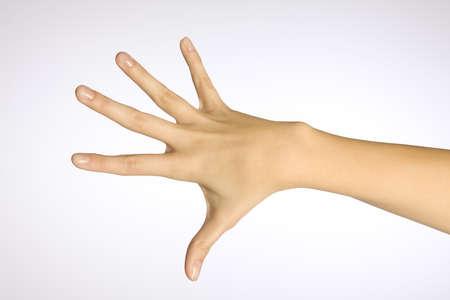 Van een vrouw hand Stockfoto
