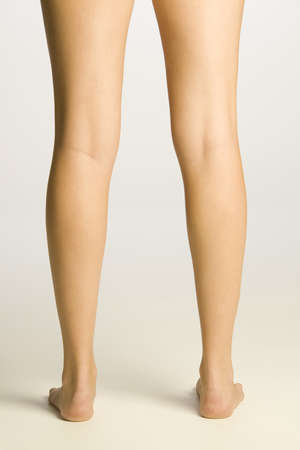 Young womans legs