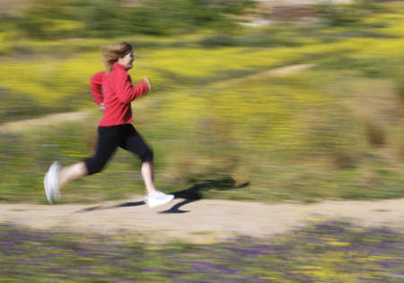 something athletic: Woman running   Stock Photo