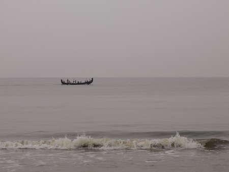 Fishing boat, Arabian Sea, Kerala, India photo
