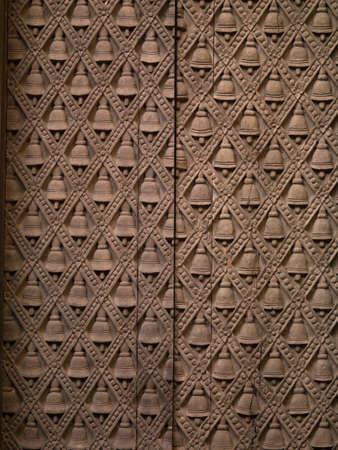 uttar: Wall detail, Varanasi, Uttar Pradesh, India