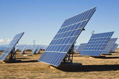 la: La Calahorra, Granada, Spanien; Solar Paneele  Lizenzfreie Bilder
